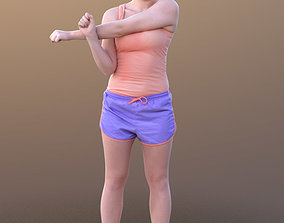 Nelly 10340 - Stretching Sport Girl 3D model
