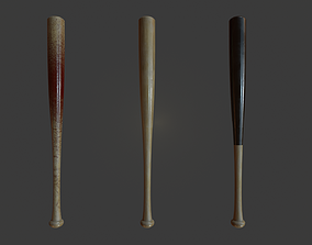 3D model low-poly Baseball Bat