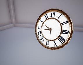 Realistic Old Clock 3D model