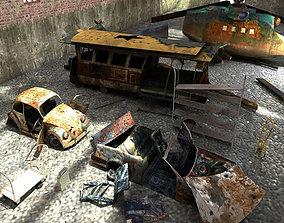 Vehicle Junkyard 3D asset