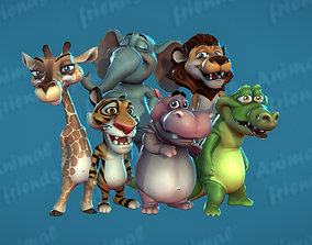 3D model Jungle Animal Friends
