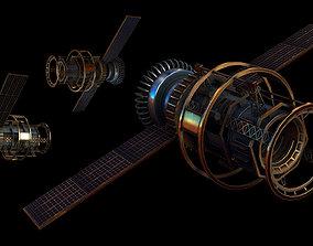 3D model Satellite orbit