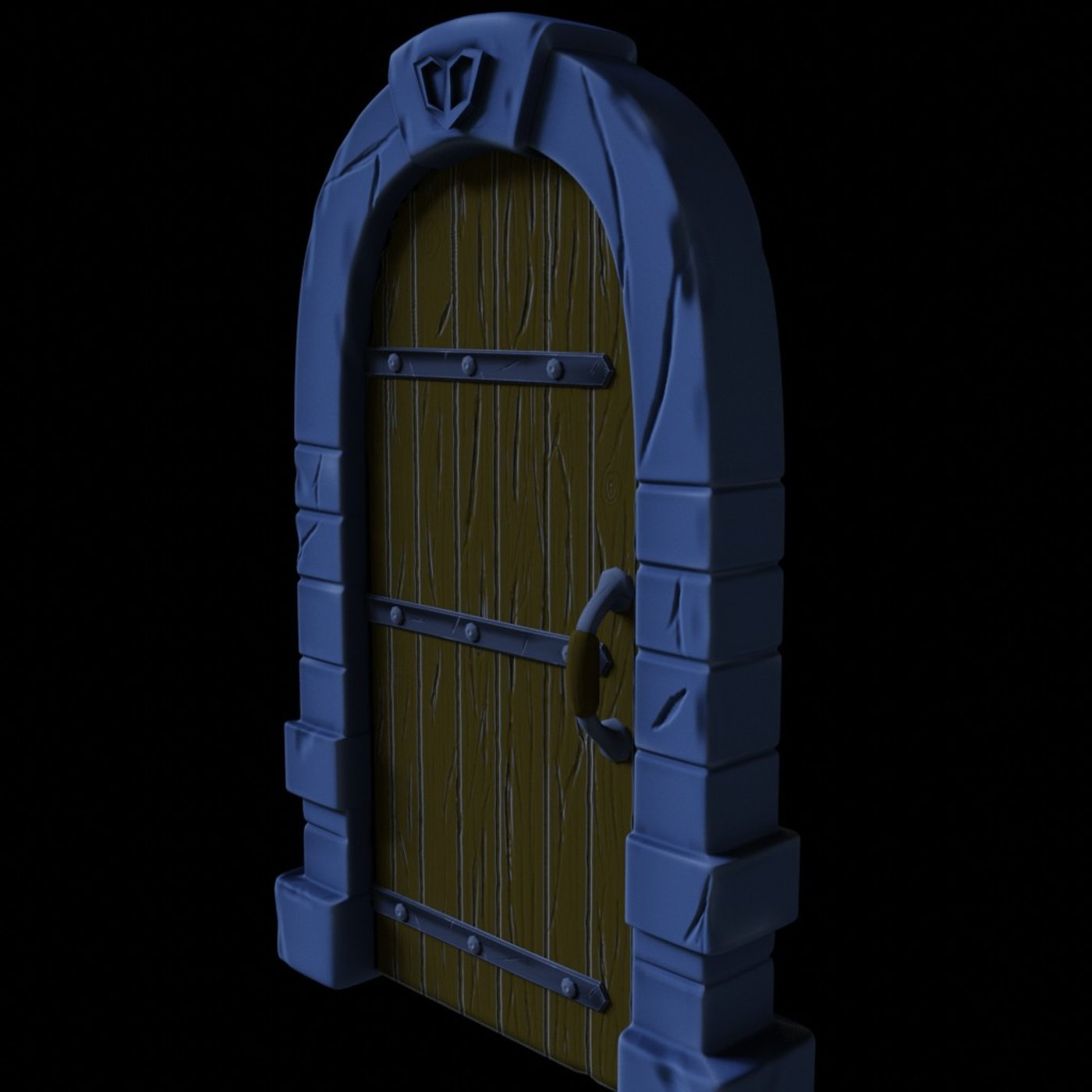 Dungeon Door (Stylized) Game Ready