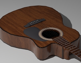 Acoustic Giutar 3D asset