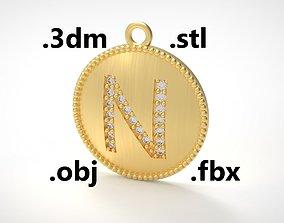 Model 179 Alphabets Necklace The Letter N Necklace 1