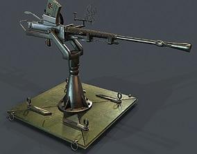 VR / AR ready Machine gun turret 3d model