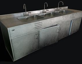 3D model Decontamination Sink