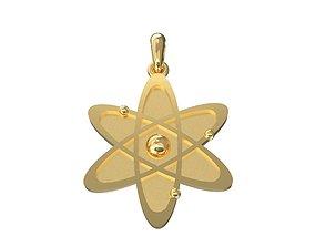 New atom 3D printable model quantum