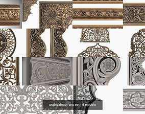 3D model arabic decor cnc set saudi