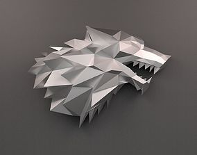 House Stark Sigil low poly 3D print model