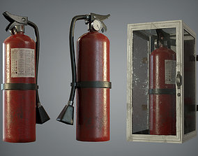 VR / AR ready FIRE EXTINGUISHER - LOWPOLY GAME ASSET