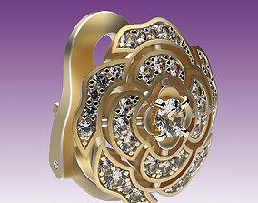 3D print model Earrings Camellia