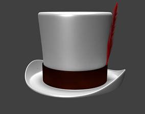 Top Hat white 3D model