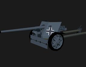 3D asset Anti-tank pack 40 LowPoly isometric