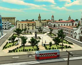 Colonial City Pack 3D asset