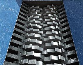 Metal Shredder 3D asset animated