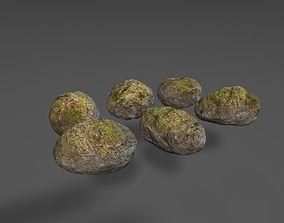 Low Poly Rocks 3D asset