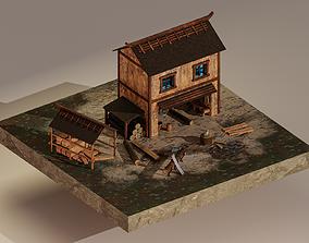 3D model Sawmill Level 10