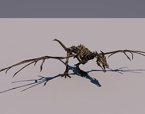 Dragon Skeleton 3D model rigged
