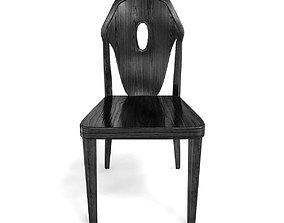 3D model Custom made black wood chair