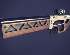 Rifle sci-fi 3D printable model games
