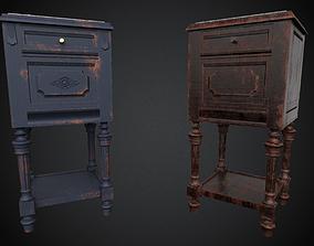 3D model 4K - PBR Antique Wooden Nightstand - UE4 Ready