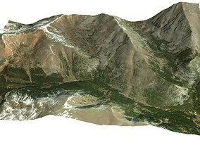 3D model Mountain Valley in Colorado