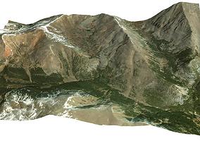 Mountain Valley in Colorado 3D