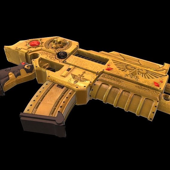Solitude bolter Warhammer 40 000 Low-poly 3D model