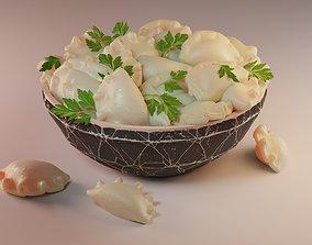 PBR dish Dumplings 3D model
