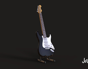 Electric Guitar detailed instrument 3D