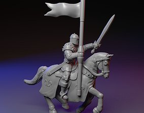 3D print model Mounted knight on a horse
