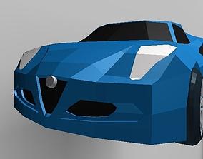 3D model LOW POLY Alfa Romeo 4c
