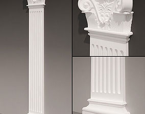 Pilaster antique type 4 3D