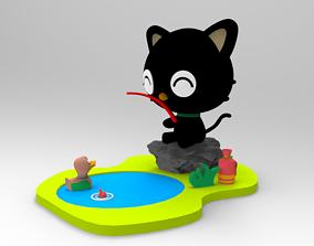 CHOCOCAT PESCANDO Amigo Hello Kitty 3D print model