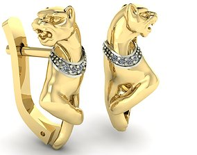 panther earrings exclusive 3D print model