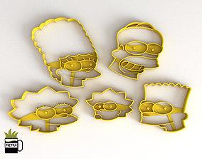 Molde cortante de galletas fondant de Los Simpsons 1