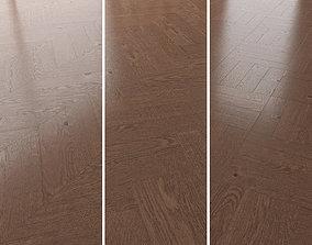 Parquet Oak Walnut Brushed set 4 3D