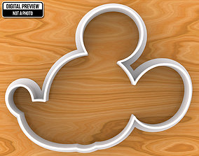 Mickey Mouse Cookie Cutter baking 3D printable model