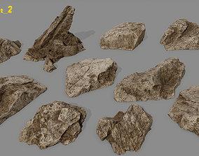 desert rock set 2 3D model