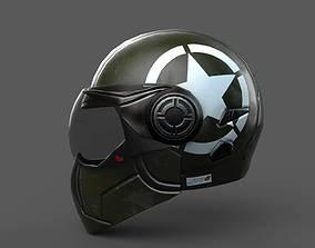 Helmet racer Generic sport scifi human 3d VR / AR ready