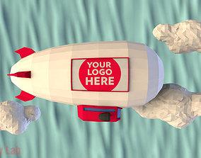 Cartoon Airship 3D model