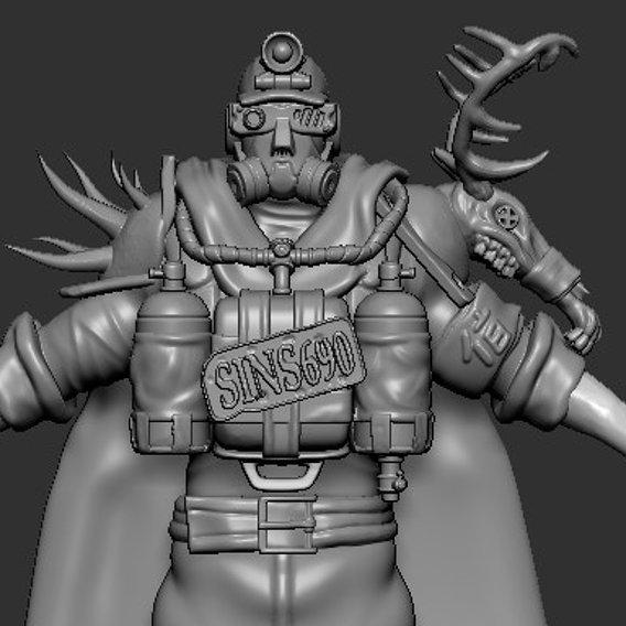 Miner Postapocalyptic Warrior