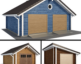 Lumber garage for one and two cars 3D model