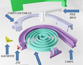 3D printable model MARBLE THROWER