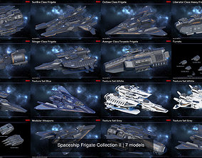 3D Spaceship Frigate Collection II