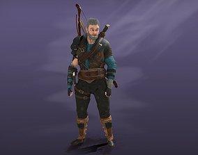 Archer 3D model animated