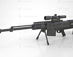 Sniper Rifle Accuracy International AS-50 3D asset