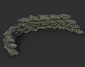 3D model Low poly Sandbag 05 B