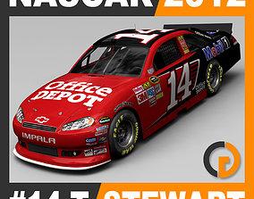 Nascar 2012 Car - Tony Stewart Chevrolet Impala 3D model